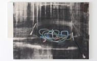 "<p><em>Reverse Reverse Trunkshot, </em>2013, Oil, acrylic and toner on canvas, 50""x72"" (triptych)<em><br /></em></p>"