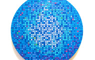 <p><strong>Blue M.O.S.S Ball</strong> - 2012, acrylic &amp; oil on panel, 12&rdquo; Diameter</p>