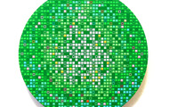 <p><strong>Green M.O.S.S Ball</strong> - 2009, acrylic &amp; oil on panel, 12&rdquo; Diameter</p>
