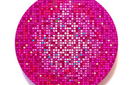 <p><strong>Pink M.O.S.S Ball</strong> - 2009, acrylic &amp; oil on panel, 12&rdquo; Diameter</p>