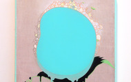 """<p><strong>T(h)ree Po(o)ol</strong> - 2006, acrylic &amp; oil on linen,10&rdquo;x 10""""</p>"""