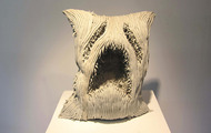 "<p>Screaming Pillow / 2012 / Resin clay / 24 x 21 x 14""</p>"