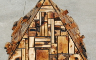 <p><strong>Olive and Avacado Wood Pyramid</strong></p>