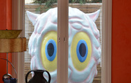 <p>Giant Melting Ice Cream Owl / 2013 / Fiberglass / 9 x 5 x 4'</p>