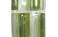 """<p style=""""text-align: left;"""">Points of Light #12,&nbsp; 2011</p> <p style=""""text-align: left;"""">7"""" x 7"""" x 20""""</p> <p style=""""text-align: left;"""">Recycled wine bottles and brass</p>"""