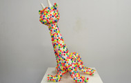 "<p>Bubblewrap Giraffe / 2013 / mixed media / 42 x 38 x 26""</p>"