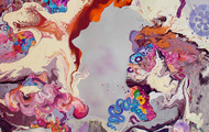 """<p>""""Stepping into the nowness""""</p> <p>60""""x 48""""</p>"""