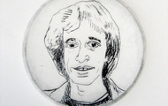 <p>Robin, 2012 / Drypoint / 3 inches diameter</p>