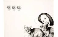 <p><em>Cleo and Mandalay</em>, 2007, 22 x 30 inches, graphite on paper</p>