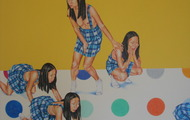 <p><em>Yellow Highlighter/Puffball&nbsp;</em>(detail), 2006, 68 x 120 inches, colored pencil and acrylic on panel</p>