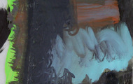 """<p><em>Quotidian 21</em><br />Oil on tracing paper<br />Approx 14"""" x 11""""<br />2012</p>"""
