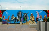 <p>Black Theatre Troupe Mural</p>