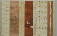 """<p style=""""text-align: center;""""><strong>3 of 3</strong></p> <p style=""""text-align: center;""""><strong>3x3x3 Triptych<br /></strong></p> <p style=""""text-align: center;"""">found wood and resin, 43 x 66</p> <p style=""""text-align: center;""""></p>"""