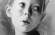 """<p><em>Untitled Drawing</em></p> <p>9""""x12""""</p> <p>Charcoal and pastel on grey toned paper</p>"""