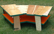<p><strong>COFFEE TABLE WITH ORANGE SHELF 2</strong></p>