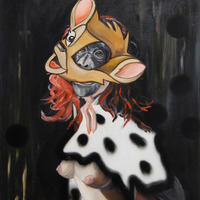 "<p style=""margin-bottom: 0cm; line-height: 150%;"">REDHEAD<strong>,</strong> 2013, oil and vinyl on canvas, 75 x 60 cm</p>"