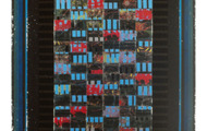 """<p><strong>BLACK & BLUES</strong>  1986-95  63"""" x 34""""</p>"""