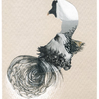 <p>Wind Swan, 2014.&nbsp; Mixed media and found objects on fabriano paper, 6 x 4 inches</p>