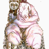 <p>Her Majesty, the Queen Bee, 2007.&nbsp; Watercolor, gouache, and ink on arches paper, 40 x 28 inches.&nbsp; Photo credit Kris Graves.</p>