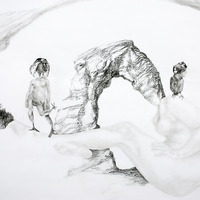 <p>Fuyapasa Landscape 2 : Girly Billy on the Mesa (detail 1), 2011.  Graphite on bristol paper, 144 x 36 inches</p>