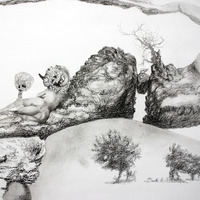 <p>Fuyapasa Landscape 2 : Girly Billy on the Mesa (detail 5), 2011.&nbsp; Graphite on bristol paper,&nbsp;36 x 144 inches</p>