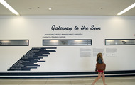 <p><em>Gateway to the Sun:</em><strong>Jamison Carter & Margaret Griffith</strong></p> <p>Los Angeles International Airport (LAX), Terminal 3 Arrivals</p>