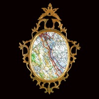<p>'My Map is my Mirror' - '43&deg;11'46.4N 2&deg;20'06.6E'</p> <p>2014</p> <p>digital print</p> <p>edition of 3 + 1 A/P</p>