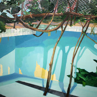 <p><em><strong>Woods Pool Offseason</strong></em>, 2013. Oil and acrylic on paper on panel, 22 x 30 inches.</p>
