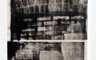 "<p><em>Wall No.5,</em> 2013, Copy-machine toner on canvas, 22""x30""</p>"