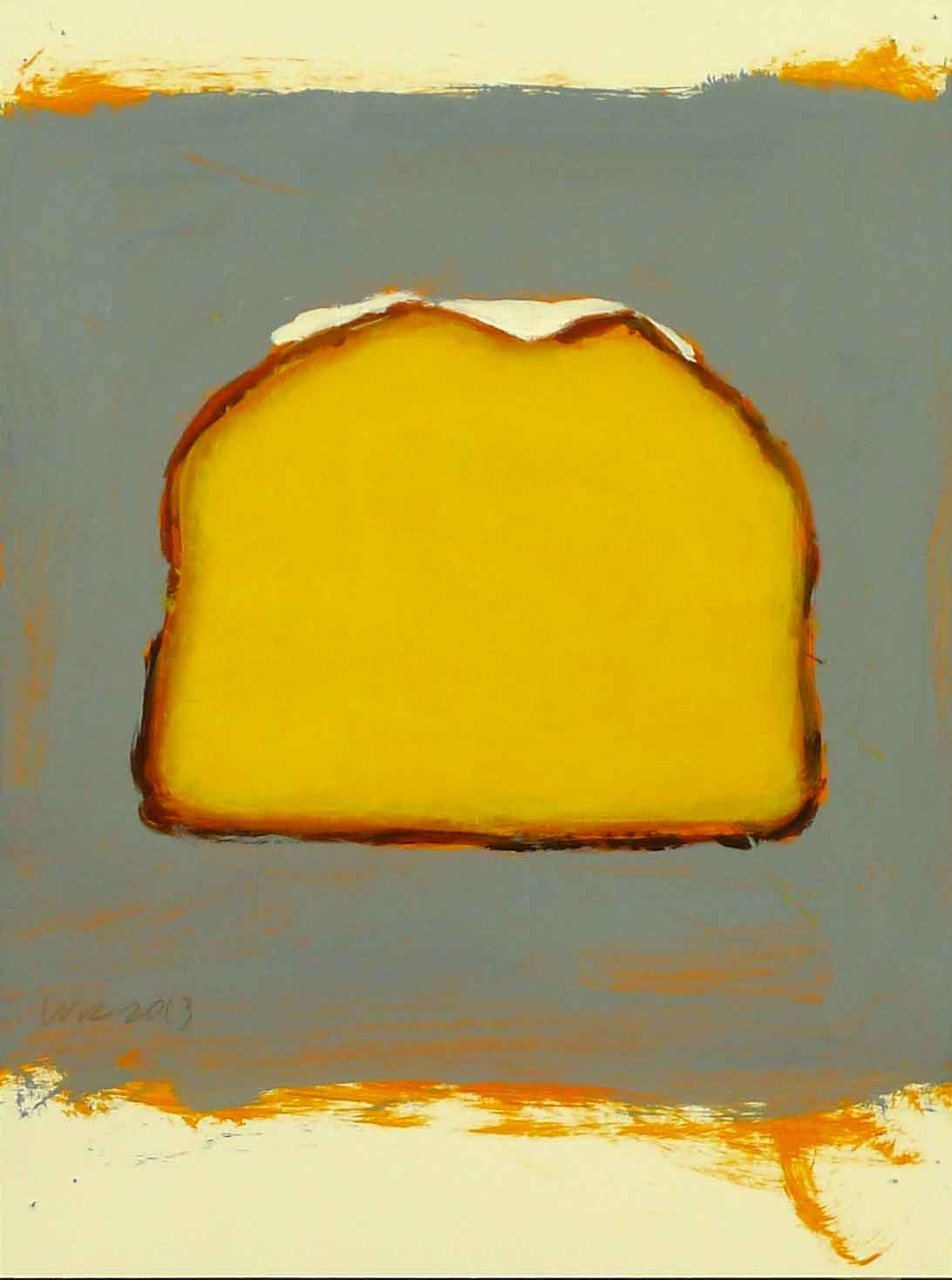 Fernandos_bakery_gourmet_iced_lemon_cake_2013_acrylic_on_paper_12_x_9_in