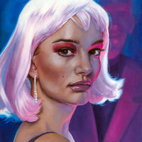 """<p style=""""text-align: center;"""">Hello Stranger</p> <p style=""""text-align: center;"""">8"""" x 10""""</p> <p style=""""text-align: center;"""">Oil on panel</p> <p style=""""text-align: center;"""">Available here:<a href=""""https://www.etsy.com/listing/193918323/original-painting-actress-natalie"""" target=""""_blank"""">https://www.etsy.com/GenieMelisande</a></p>"""