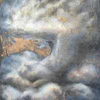 "<p style=""text-align: center;"">There Go the Clouds Passing up Uncertainties (Blue Cloud)</p>