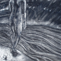 """<p style=""""text-align: center;"""">Clutching the Heart as you Enter Cold Water</p> <p style=""""text-align: center;"""">Powdered Graphite on Board&nbsp;&nbsp;&nbsp;&nbsp;&nbsp; 24 1/4"""" x 30 1/2""""&nbsp;&nbsp;&nbsp;&nbsp;&nbsp; March 2011</p> <p style=""""text-align: center;"""">&nbsp;</p>"""