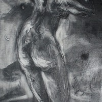 """<p style=""""text-align: center;"""">O BLows the Shadow Across the Wind</p> <p style=""""text-align: center;"""">Powdered Graphite on Board&nbsp; 2006</p> <p style=""""text-align: center;"""">NA</p>"""