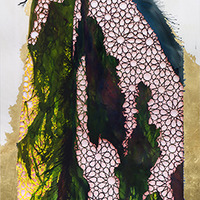 <p>Untitled (Noor El-Huda II) 2013, mixed media on hand-cut paper, 73 x 36 inches</p>