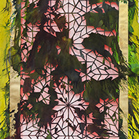 <p>Untitled (shubbak I) 2013, mixed media on hand-cut paper, 72 x 29 inches</p>