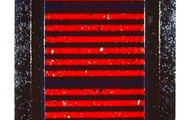 "<p><strong>PETROGLYPHIC RED  </strong>  1987-88   66"" x 30""</p>"