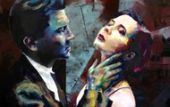 "<p>""Lynch & Rossellini"" 48in. x 48in. Oil on panel. 2012. SOLD.</p>"
