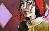 "<p>""Annabelle"" 24in x 30in. Oil on wood panel. 2013.</p>"