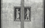 <p><em>Altar of Egyptian Gods</em>, 1974, Etched Leaf on Masonite, 24 X 24 X 3.5 inches. (closed).</p>