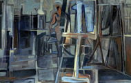 <p><em>Blue Studio</em>, 1964, Oil on canvas, 40 X 30 inches.</p>