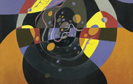 <p><em>First Wohipolu: Circle</em>, 1969, Oil on canvas, 24 X 30 inches.</p>