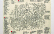 """<p><strong>Cicada Engine,</strong>Silk Screen print edition of 150, 18"""" x 24"""",2014</p>"""