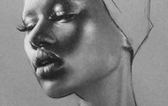 <p>Charcoal and pastel study</p>