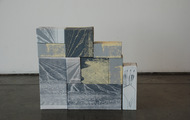 <p>Temporary Installation</p> <p>California College of the Arts</p> <p>Screenprint on cardboard boxes</p>