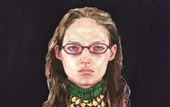 """<p><em>Off My Chest</em></p> <p>Watercolor, colored pencil, and flashe on paper</p> <p>30"""" x 22""""</p> <p>2015</p>"""