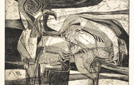 <p><em>Sleeping Ram</em>, 1963, Etching on paper, 9 X 7.5 inches.</p>