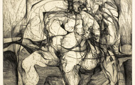 <p><em>Odysseus &amp; Calypso</em>, 1964, Etching on paper, 15 X 12 inches.</p>