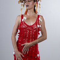 <p>Red Mermaid Dress and Dragon Crown 3</p>