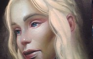 <p>Mother</p> <p>acrylic on wood</p> <p>client: Game of Thrones</p>